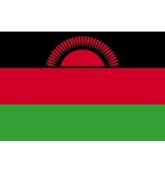 Flag of Malawi in correct proportions and colors vector