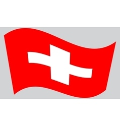 Flag of Switzerland waving vector image