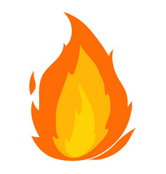 Flame icon cartoon style vector