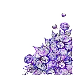 floral background with flowers EPS10 vector image
