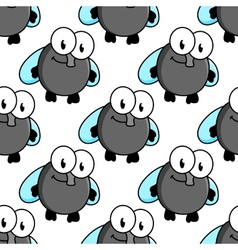 Fly cartoon characters seamless pattern vector