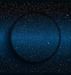 Glass circle Starry night sky Eps 10 vector