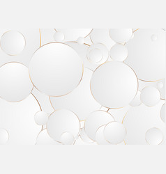Grey bronze circles abstract corporate background vector