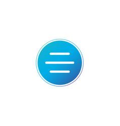 hamburger menu circle icon or button for web vector image