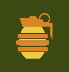 Hand grenade - a cartoon of a military hand vector