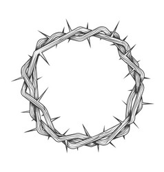 Hand made crown thorns tattoo vector