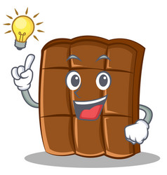 have an idea chocolate character cartoon style vector image vector image