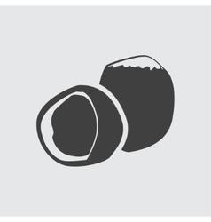 Hazelnut icon vector image