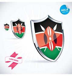 I Love Kenya Flag vector image