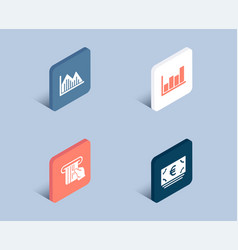 investment graph report diagram and credit card vector image