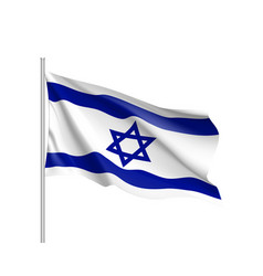Israel national flag realistic vector