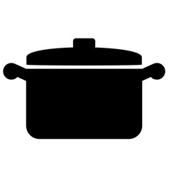 kitchen pot icon vector image
