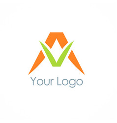 letter a abstract business logo vector image