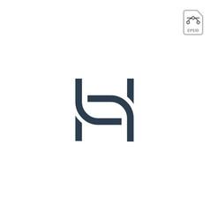 Letter h nature leaf logo design vector