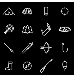 line hunting icon set vector image
