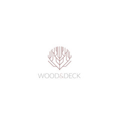 logo sign for wood company vector image