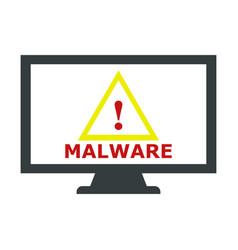Malware icon vector