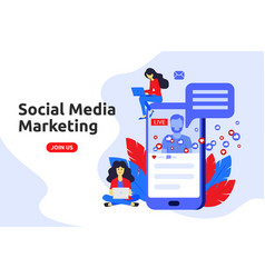 modern flat design concept for social media vector image