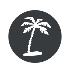 Monochrome round vacation icon vector image