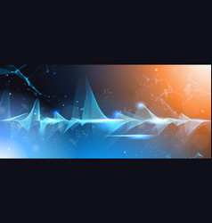music waves equalizer musical bar dark background vector image