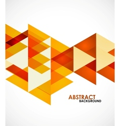 Orange business triangles vector image