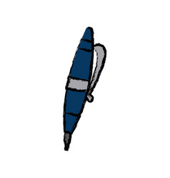 Pen writing object ink tool icon vector