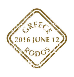 postal stamp from greece vector image