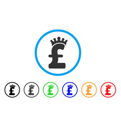 pound crown rounded icon vector image