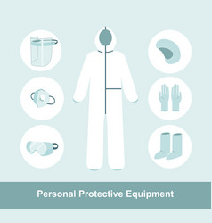 Ppe personal protective equipment vector