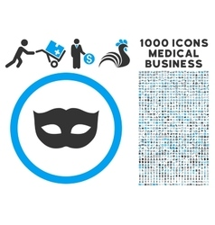 Privacy Mask Icon with 1000 Medical Business vector
