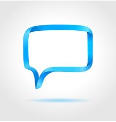 Rectangle blue speech bubble vector