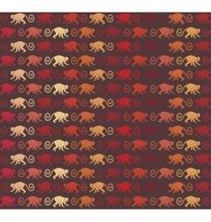 Red monkeys seamless pattern vector