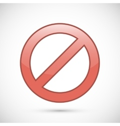 Red prohibition sign icon vector