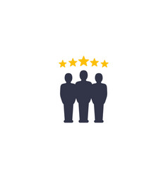 Review team evaluation icon vector