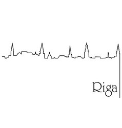 riga city one line drawing background vector image