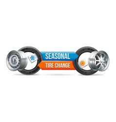 Seasonal tire change vector