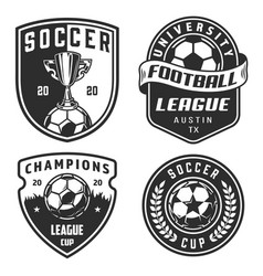 Set of soccer emblems vector