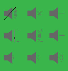 Set sound icons vector image