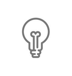 simple light bulb line icon symbol and sign vector image