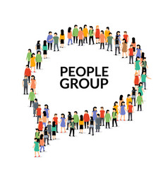 speech bubble people group chat crowd vector image