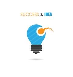 Sperm symbol and light bulb sign vector