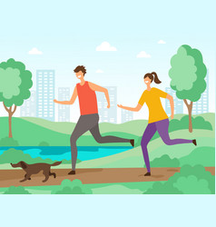 sport activities background fitness people vector image