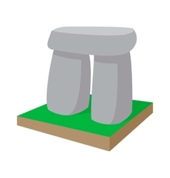 Stonehenge icon cartoon style vector