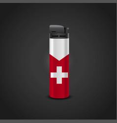 Switzerland cigrette lighter design vector