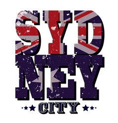 Sydney City T-shirt Typography vector image