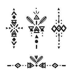 Tribal hand drawn elements vector