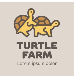 Turtles Farm Hot Logo vector image