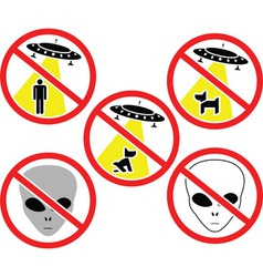ufo warning signs vector image