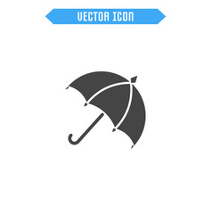 umbrella icon flat parasol icon vector image
