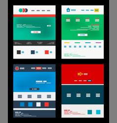 Web site schemes templates set vector